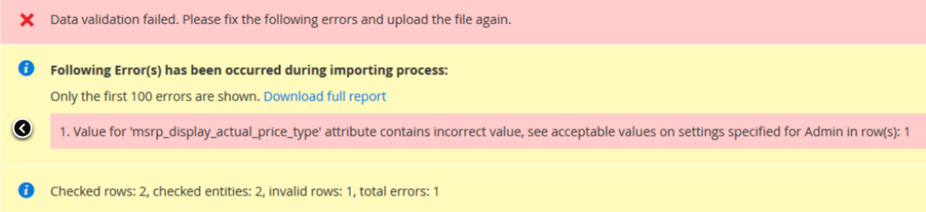 Value for 'msrp_display_actual_price_type' attribute contains incorrect value, see acceptable values on settings specified for Admin in row