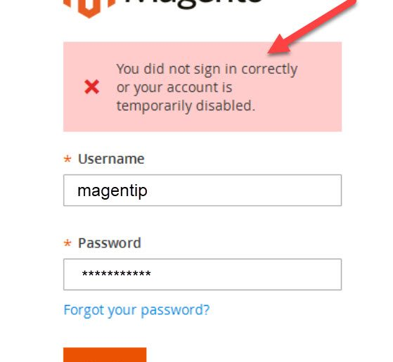 You did not sign in correctly or your account is temporarily disabled