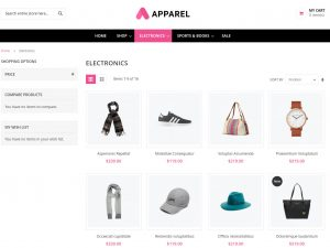 apparel category page