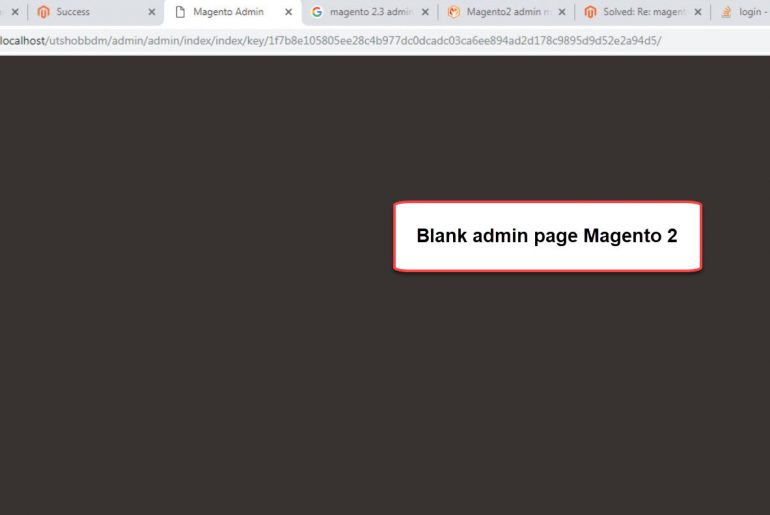 blank admin page magento 2