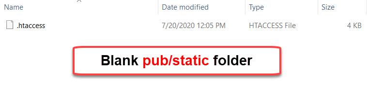 blank pub static folder