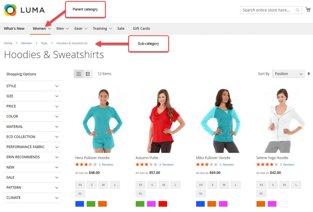 category page magento 2