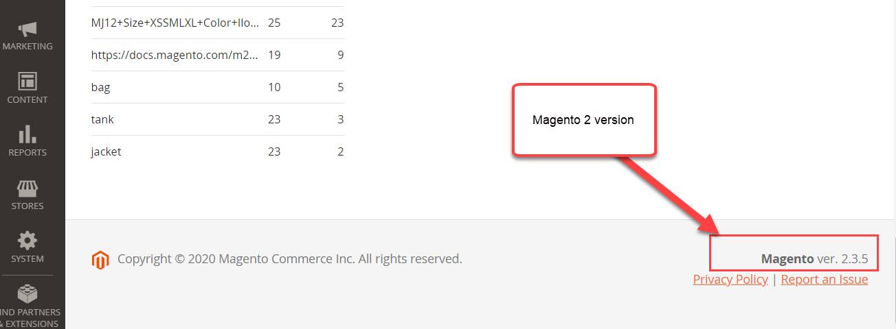check magento 2 version 1