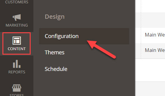 content configuration