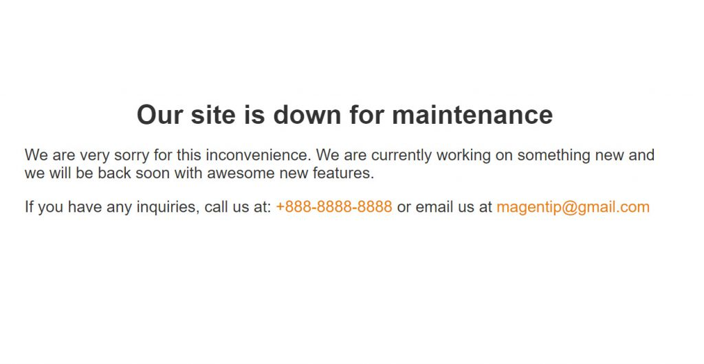 custom maintenance mode page