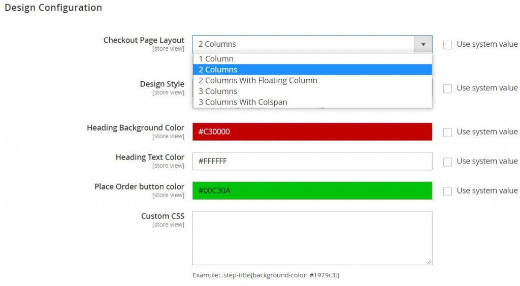 design config