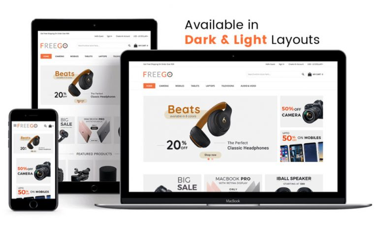 FreeGo free Magento 2 theme by Solwininfotech<br />