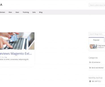 magento 2 blog page