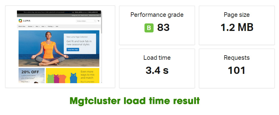mgtcluster loadtime result
