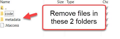 remove cache