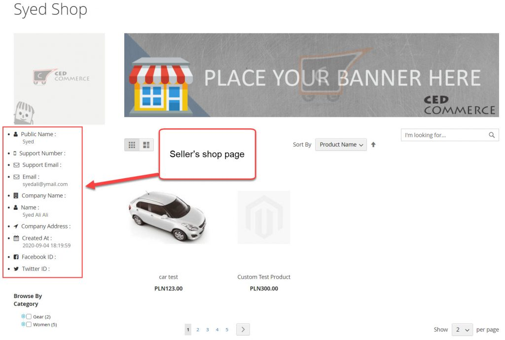 seller shop page
