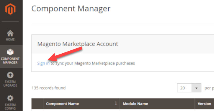 sign in magento 2 market place account