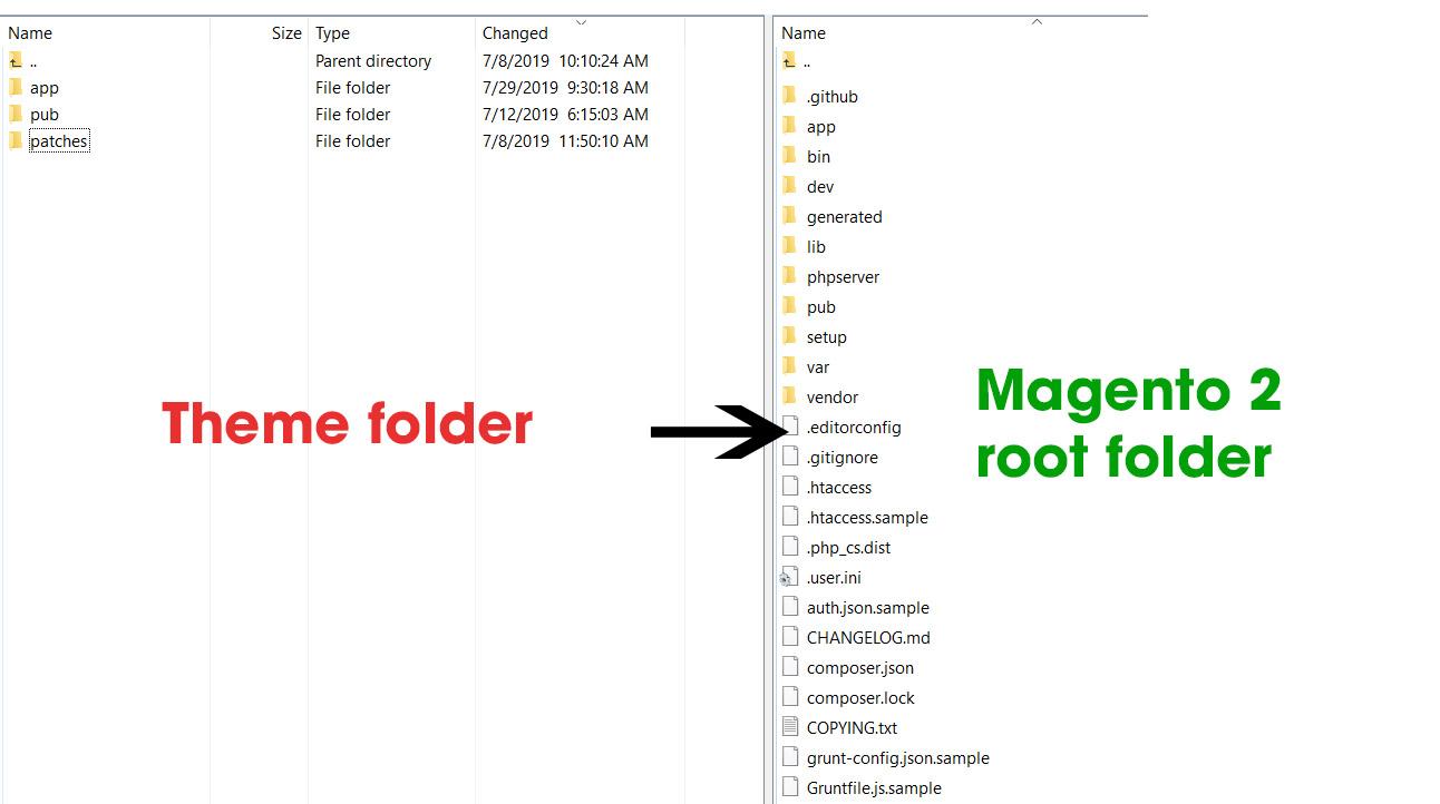 upload theme files