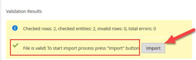 valid import