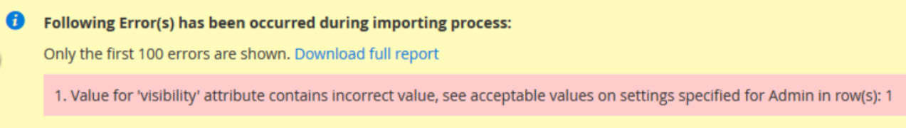 value for visibility attribute contains incorrect value