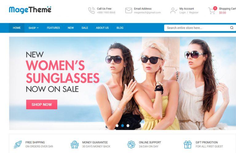 SM MageTheme – Responsive MultiPurpose Free Magento 2 Theme<br />