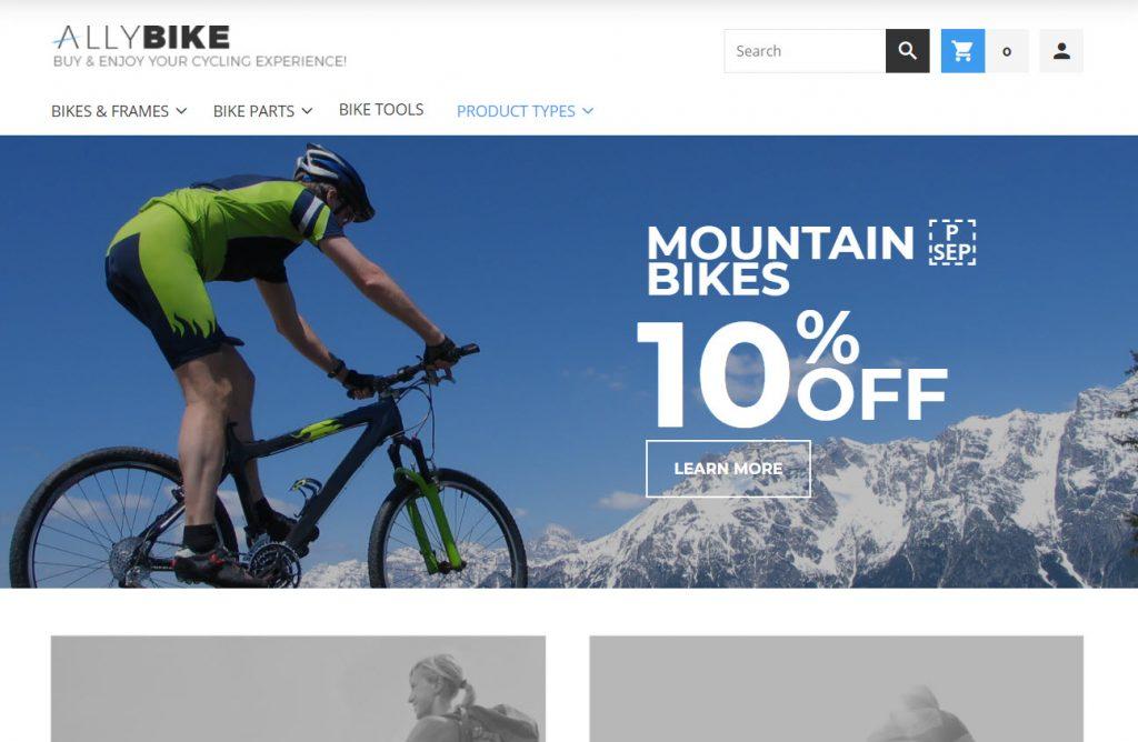 AllyBike - FREE Sports eCommerce Magento Theme<br />