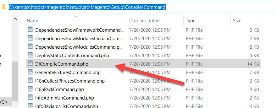 dicompilecommand php