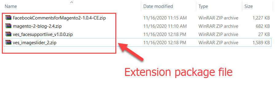 extension package file