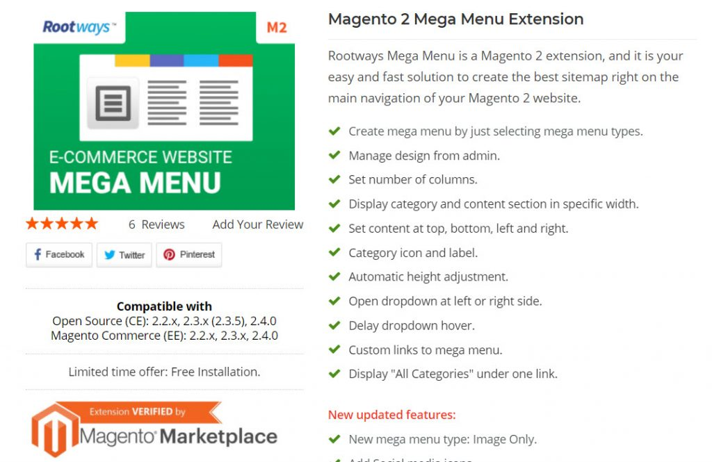 rootway magento 2 megamenu extension