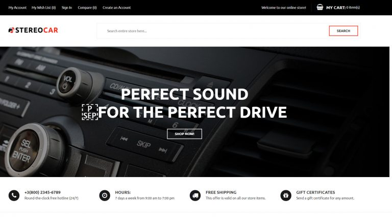 StereoCar Magento 2 Theme<br />