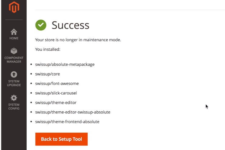 successfully installed via magento 2 web setup wizard
