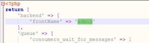 change admin url using env php file