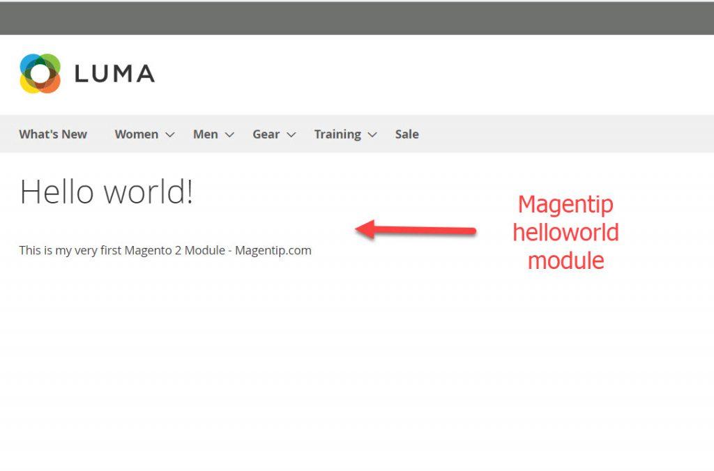 magentip helloworld module