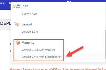 select magento 2 version