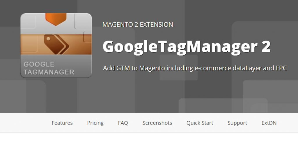 free Google Tag Manager extension by Yireo