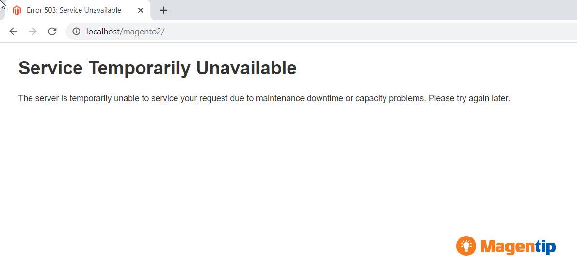Error 503 Service Temporarily Unavailable magento 2