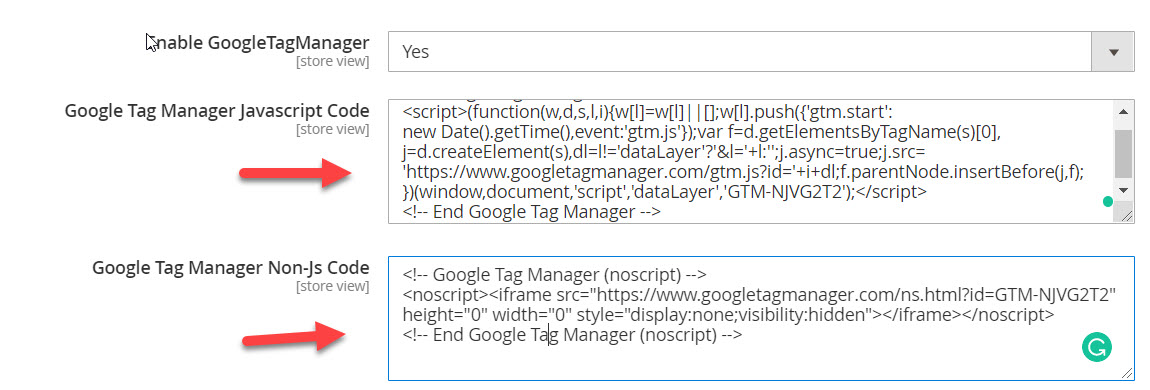 add tag manager tracking code