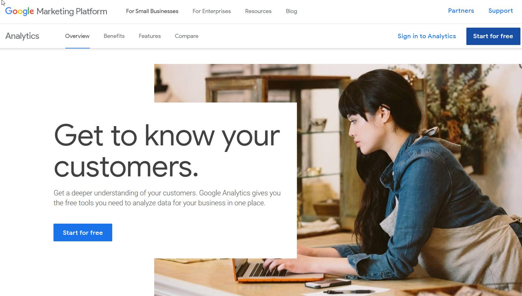 create google analytic account