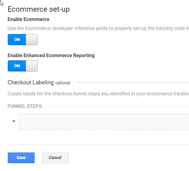enable enhanced commerce in analytics