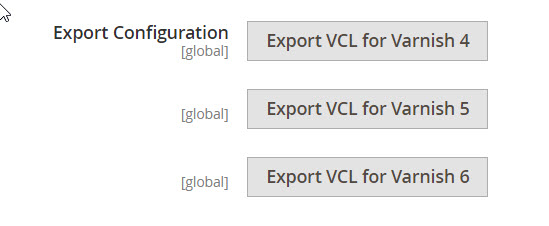 export varnish configuration