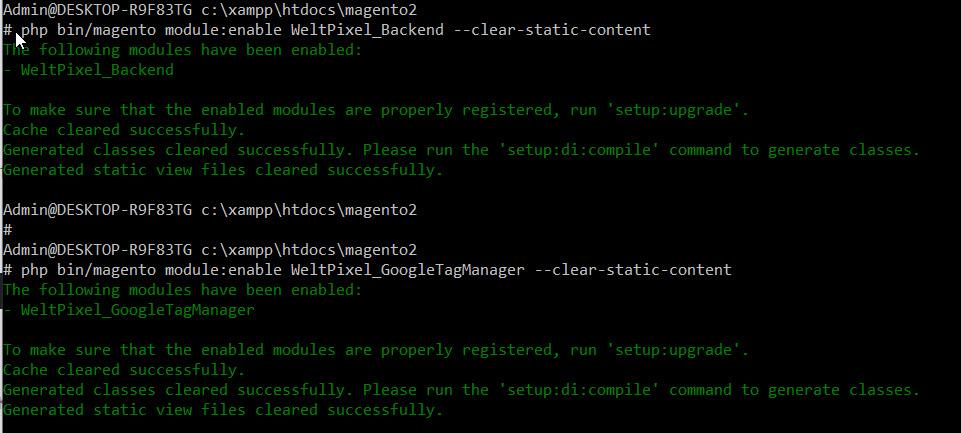 install weltpixel enhanced commerce plugin using ssh