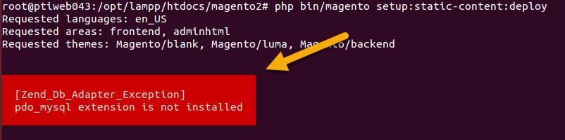 pdo mysql extension not installed